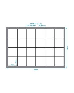 24 Compartment Crate Divider Inserts