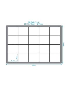 20 Compartment Polypropylene Crate Inserts