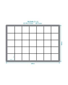35 Compartment Polypropylene Euro Crate Dividers