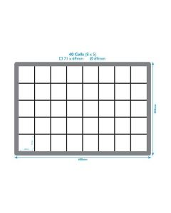 40 Compartment Polypropylene Crate Dividers