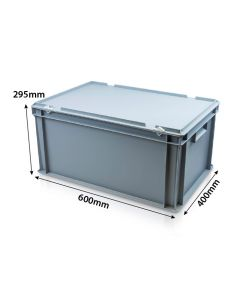 Large Container with Hinged Lid L600xW400xH295mm
