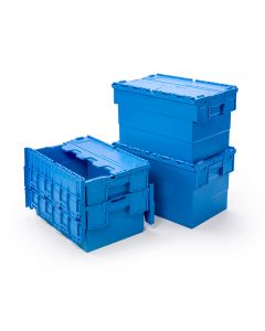 ATTACHED LID CONTAINER 24 LITRE L400xW300xH250MM