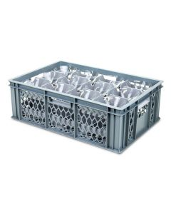 12 Compartment Top Section Euro Crate Divider Insert