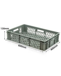 Perforated Plastic Crate L600xW400xH130mm