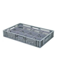 12 Compartment Base Section Euro Crate Divider Insert