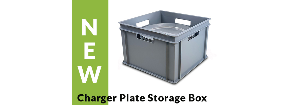 NEW Charger Plate Storage Box joins the Collection